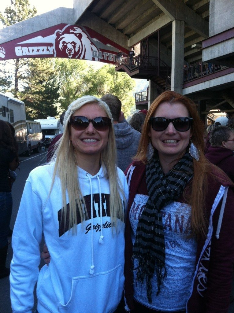 cassie and I at griz game